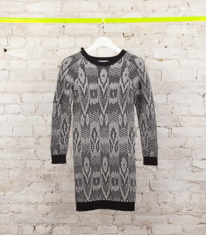 Thomas Sires jacquard sweater dress, $450, http://www.thomassires.com