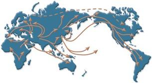 Análise do mtDNA de pessoas de todo o mundo tem revelado muitas pistas sobre a migração dos nossos ancestrais.