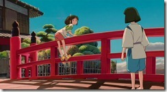 Spirited Away Meeting on the Bridge