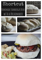 Shortcut Homemade Hamburger Buns with your Breadmaker | personallyandrea.com
