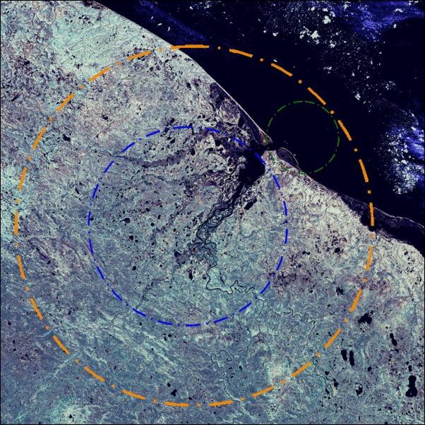 Kara_crateri_crater_Russia_lansat