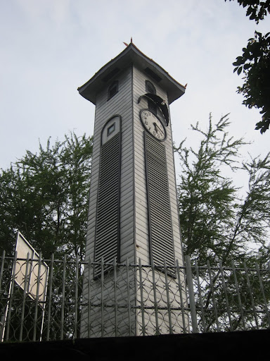 Kota Kinabalu's clock tower - the sole remaining structure left standing after World War II.