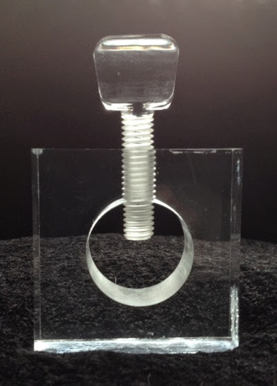 Lucite nut cracker front