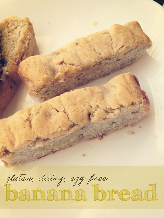 Gluten, Dairy, Egg Free Banana Bread