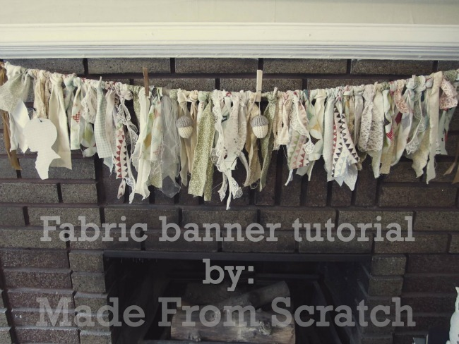 fabric banner tutorial by made from scratch