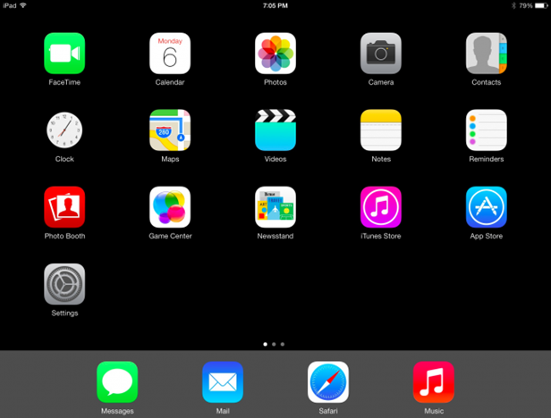 iPhone or iPad Home Screen Layout