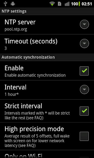 clocksync for android screenshot