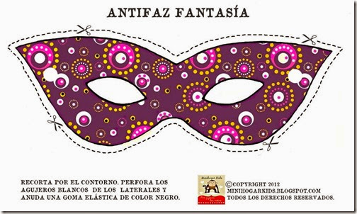 antifaz morado