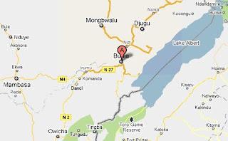 Carte de Bunia en Province Orientale