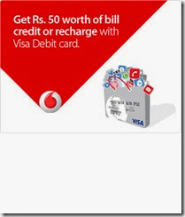 VISA india offer: Get Vodafone Free Recharge worth Rs. 50, and more offers