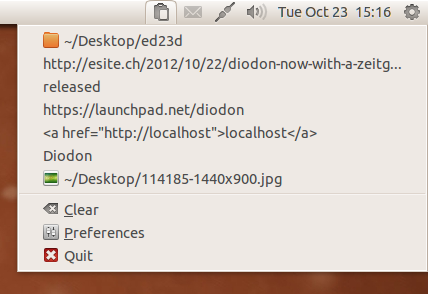 Diodon 0.9 su Ubuntu