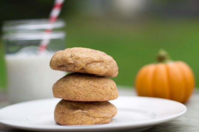 Pumpkin Snickerdoodles with Cream Cheese Filling (12)