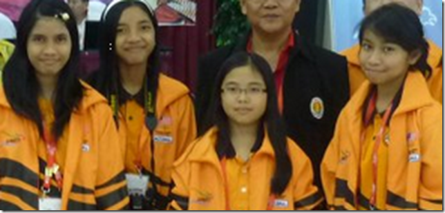 Malaysian women's chess team 2012