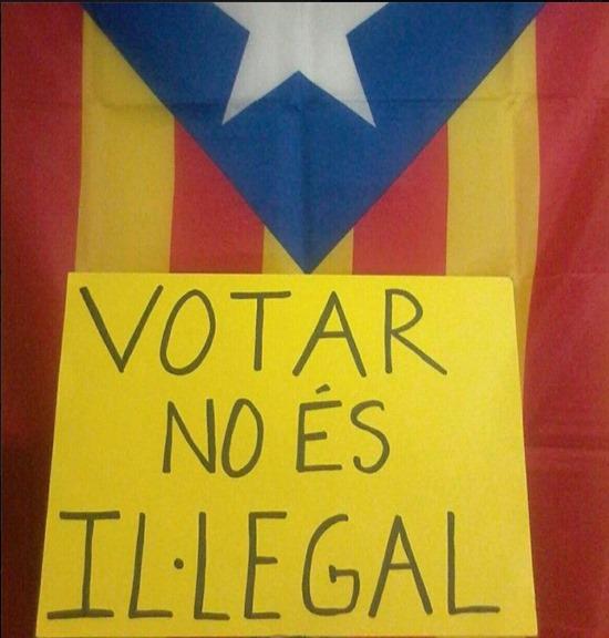 Bandièra Catalana votar es pas illegal