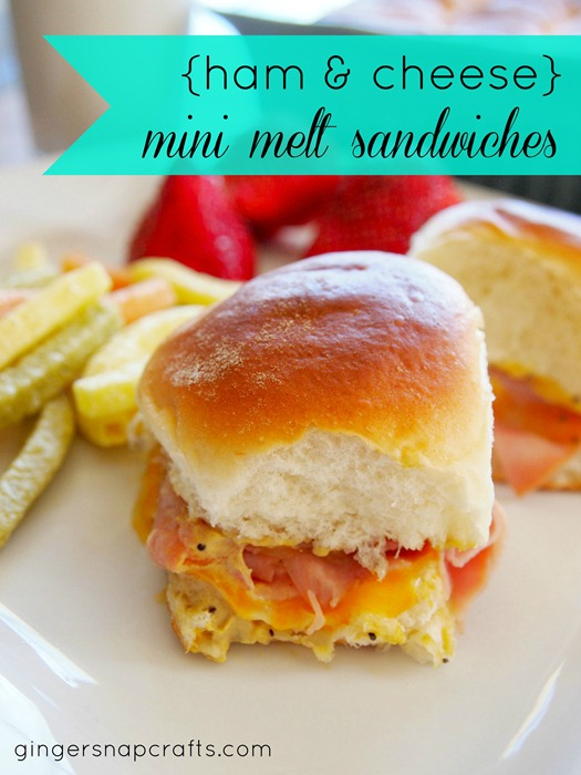 mini ham & cheese melts from Ginger Snap Crafts