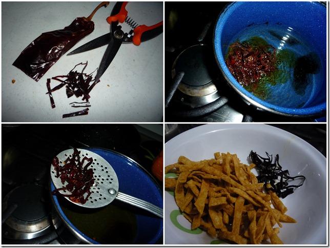 3.- Paso a paso fritua de los aros de chile