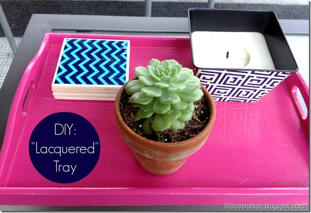 DIY Lacquered Tray 3