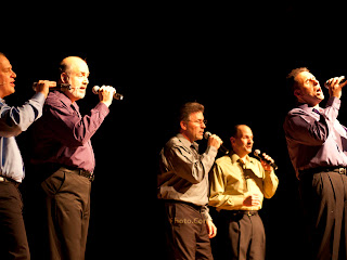 (l-r) Jim Huffman, Frank LeRose, Dean Anzalone, Bill Peters, Emil Iannone - (singing See You In September)Photos by TOM HART/  FREELANCE PHOTOGRAPHER