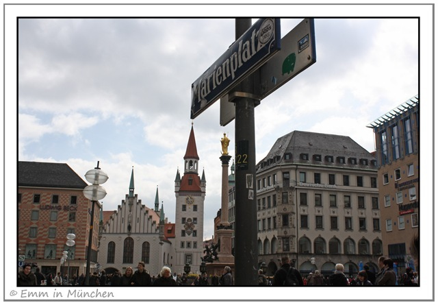 Marienplatz sign, Munich