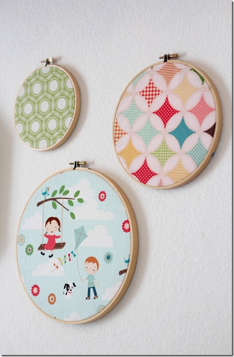 Crafty Cupboard-Fabric Hoops