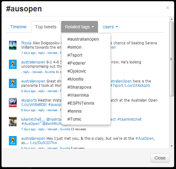 Australian Open Tweets