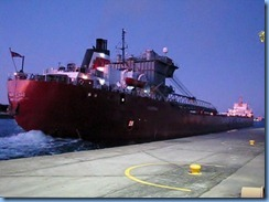 5280a Michigan - Sault Sainte Marie, MI - Soo Locks  - Canadian freighter Frontenac leaving MacArthur Lock