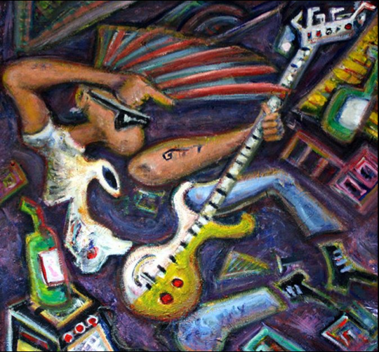 rock n roll painting