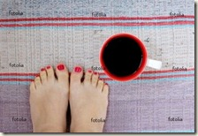 pedicure with coffee