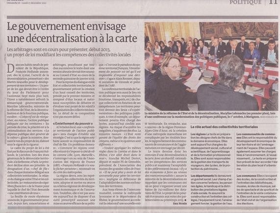 Lentament decentralizacion Le Monde 17 decembre 12