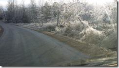 icy roadside