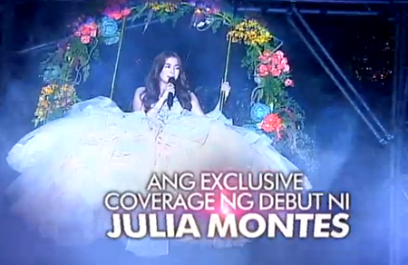 Julia Montes debut party coverage in The Buzz