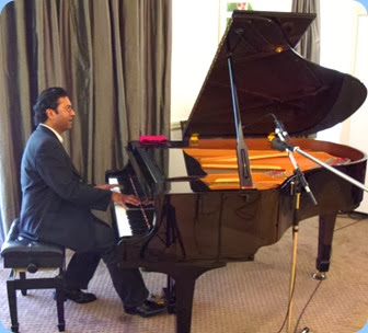 Special guest artist, Ben Fernandez, gave a cameo performance playing the Yamaha C3 grand piano