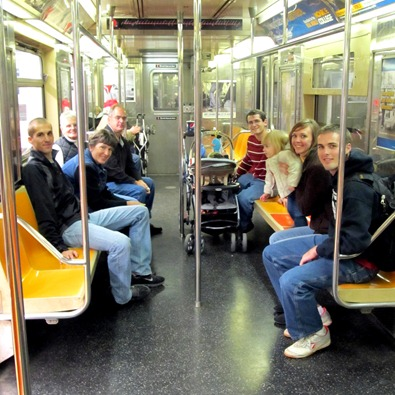 On the Subway with the Godbys