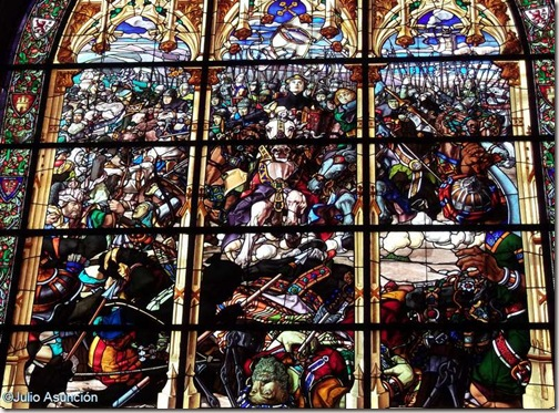 Batalla de Las Navas de Tolosa - Vidriera - Sala Capitular de Roncesvalles