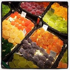 fruit sweets at la Boqueria