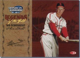 2005 Donruss World Series 04 Schoendienst 228 of 500