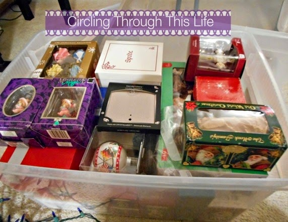 Ornaments Neatly packed ~ Circling Through This Life ~ Putting Chrismas away in an orangized way!