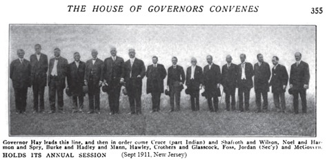 William George Jordan and Governors 1 - 1911-10 Current Literature - The House of Governors