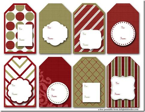 2011 Christmas Tags