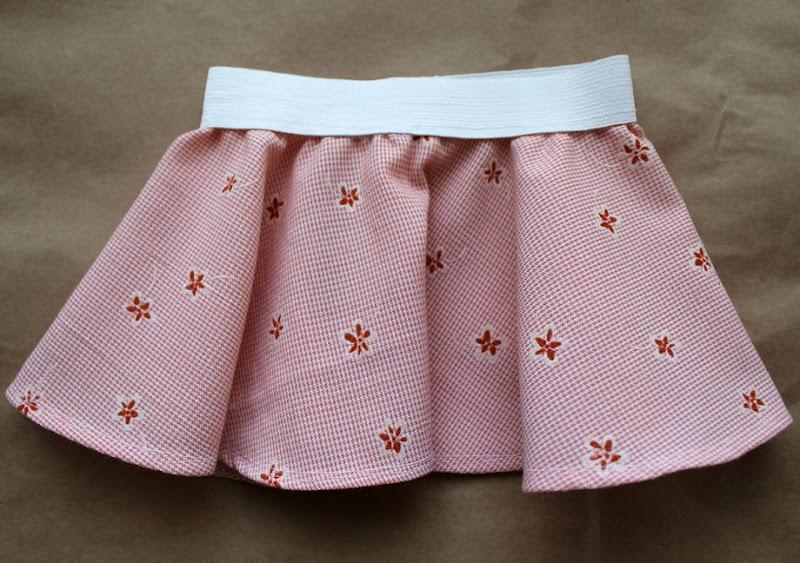 pink circle skirt