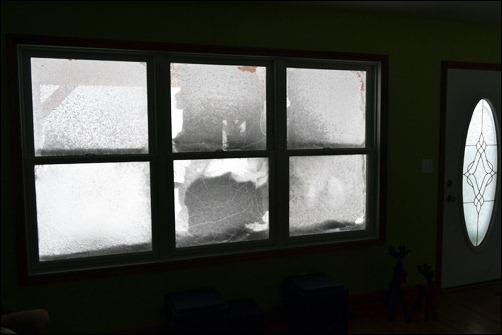 snow covered windows