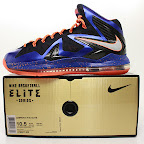 nike lebron 10 ps elite blue black 8 01 Release Reminder: Nike LeBron X P.S. Elite Superhero