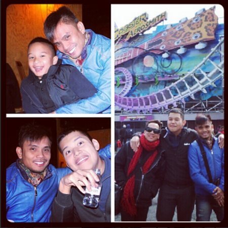 Josh and Bimby with Erick Salud