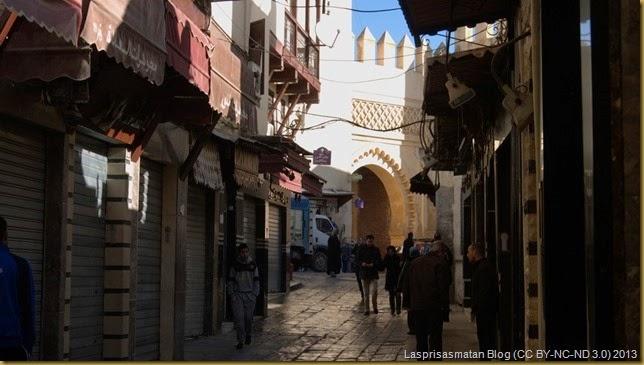 Al final del Mellah está la puerta Semmarine que da acceso a Fes El Jedid