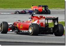 Alonso insegue Ricciardo nel gran premio della Malesia 2014