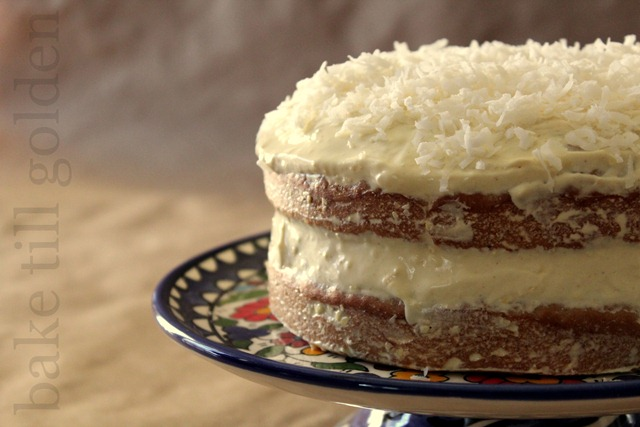 Coconut Banana Ginger Birthday Cake - BTG