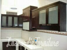 Kitchenset Minimalis Kitchenset Dinding Kaca Brown Pelapis