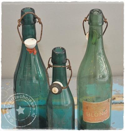 verftechnieken.nl vintage flessen