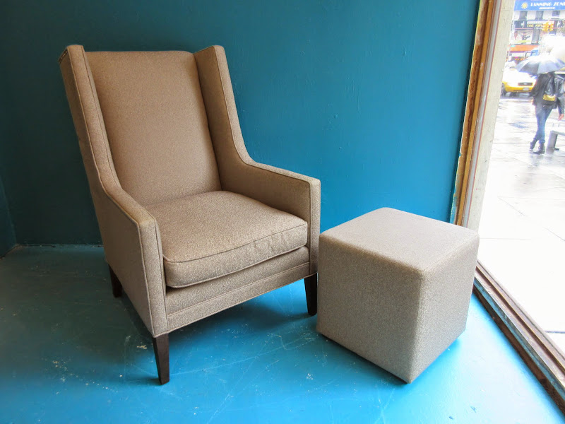 Mitchel Gold + Bob Williams Wing Chair and Ottoman