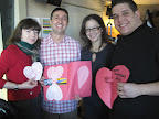 Maura, Lino, Terri and Steve-- wishing everyone a happy Valentine's Day!